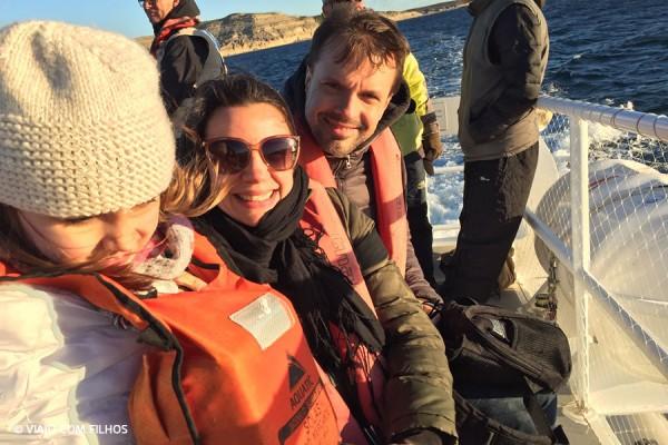 barco para ver as baleias - Patagonia