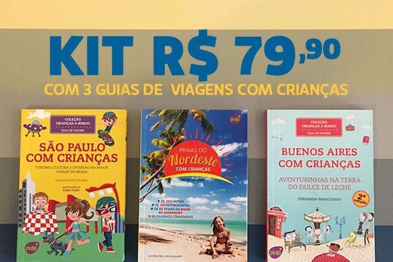 Kits com os guias de viagem com crianças