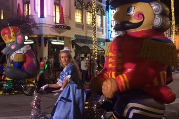 Parada de Natal no Universal Studios