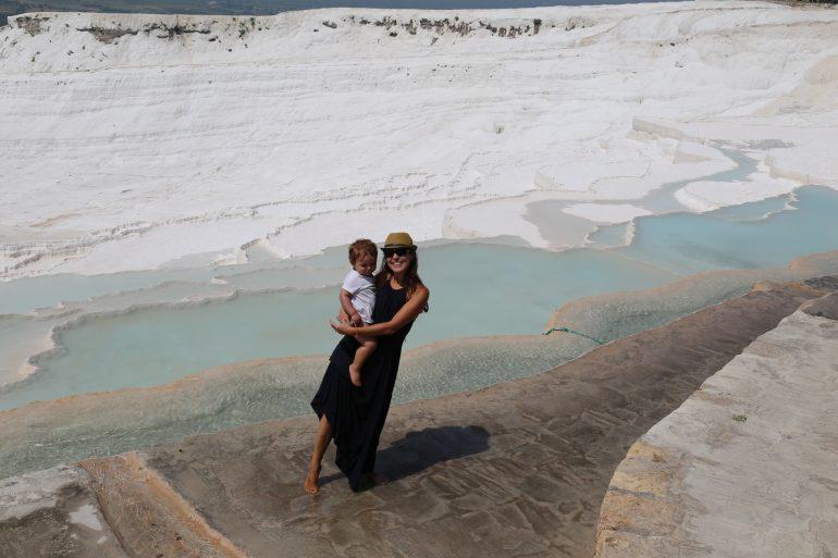 Turquia com crianças: Pamukkale, as piscinas de mármore