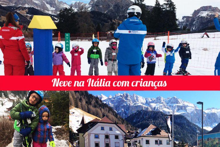 Neve na Itália com crianças