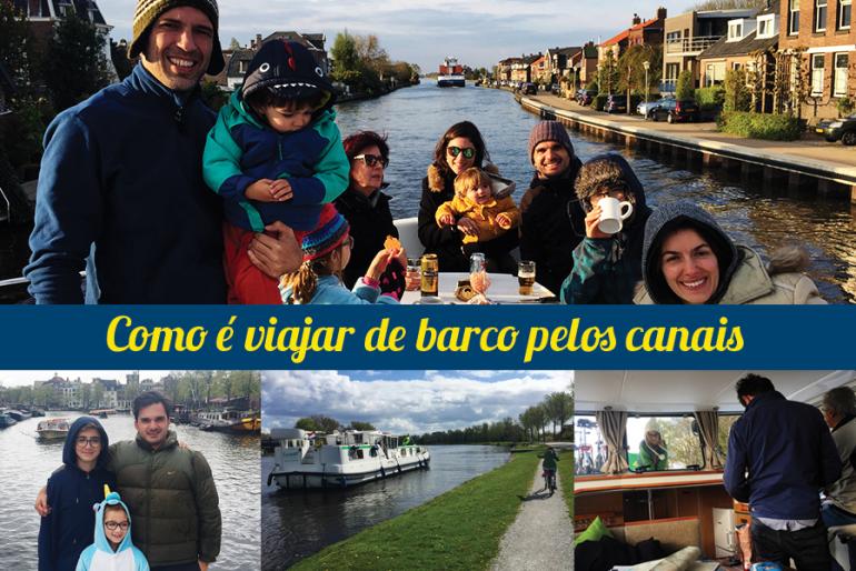 Como é viajar de barco pelos canais da Holanda