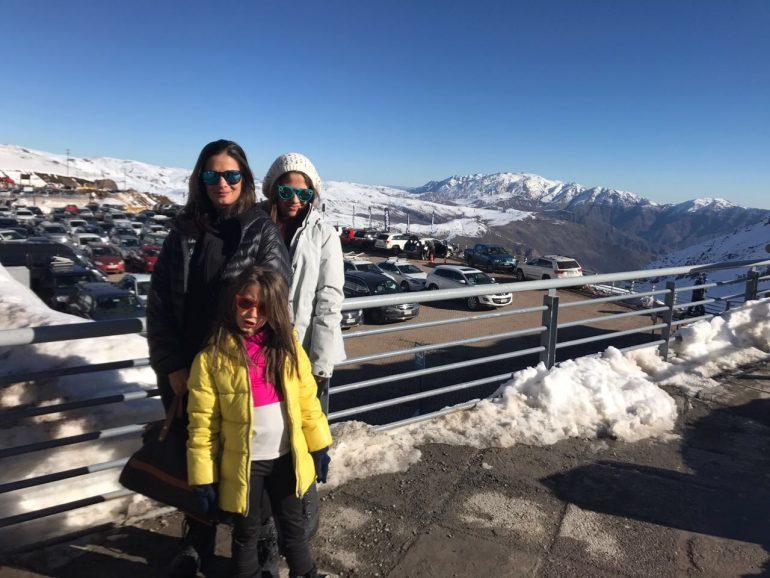Família no Valle Nevado