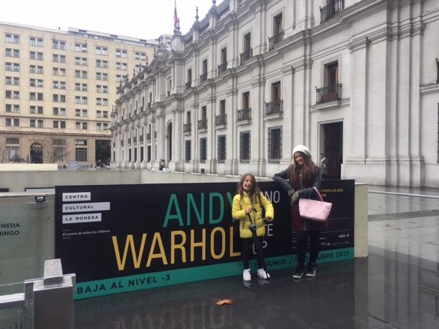 Santiago com Crianças: Exposição Andy Warhol