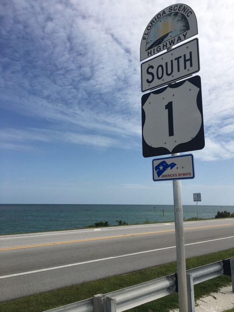 Highway 1 e Key West com crianças
