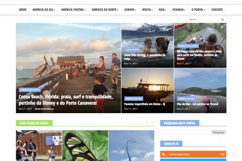 Blogueiros se unem para lançar portal de Viagem com Filhos