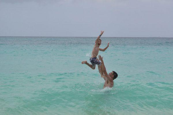 Aruba com crianças