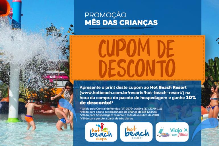 Desconto no Hot Beach Resort para leitor Viajo com Filhos
