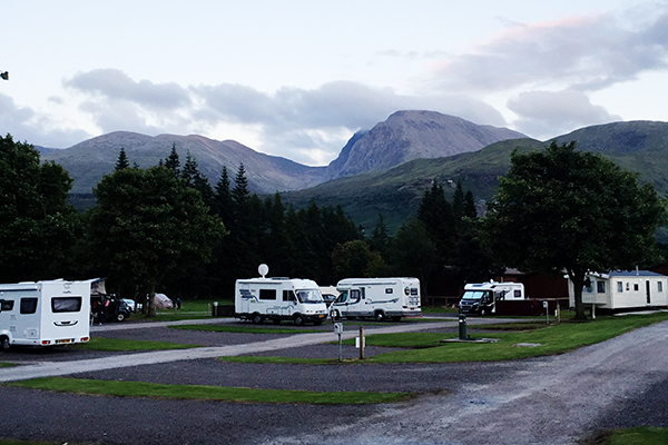 Motorhome nas Highlands