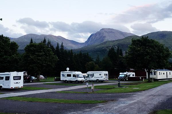 Motorhome nas Highlands
