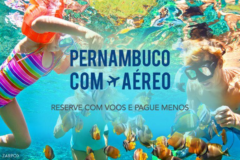 Praias de Pernambuco com aéreo