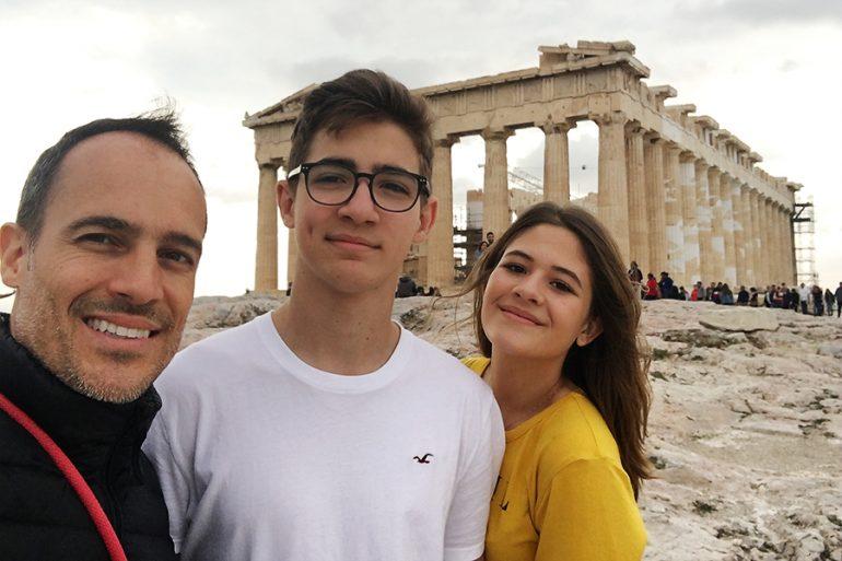 Istambul e Atenas com adolescentes