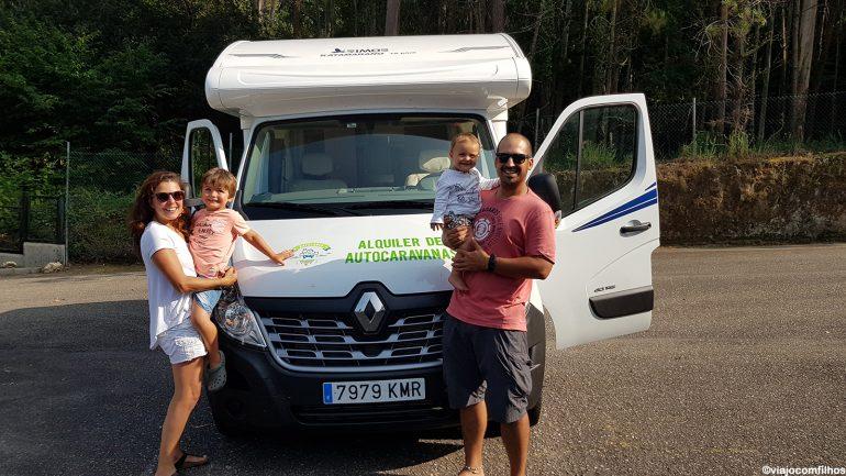 Motorhome com crianças pelo norte da Espanha