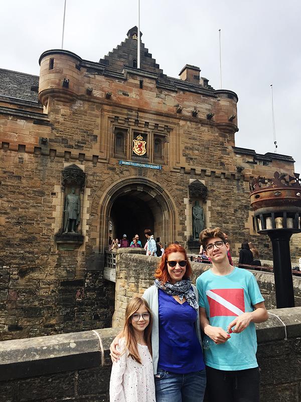 Edimburgo com crianças - castelo