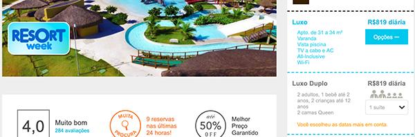 Resort com oferta no Brasil