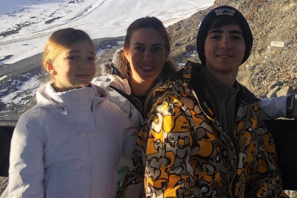 Esqui na Austria com crianças