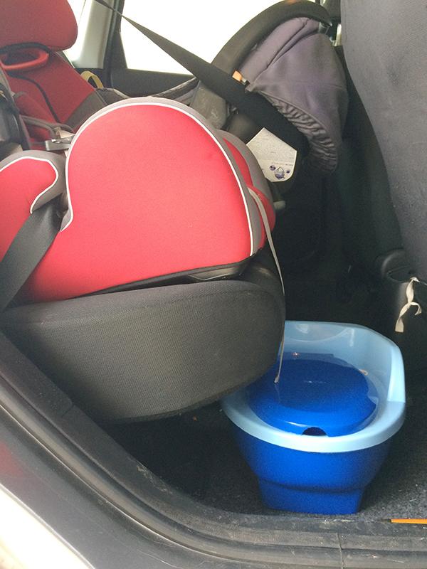 Viagem de carro com bebê